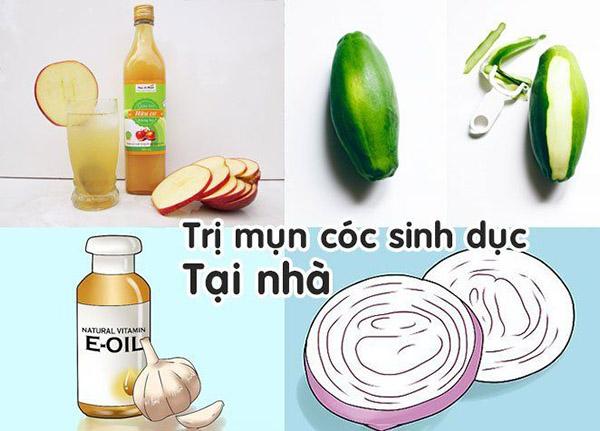 chua-mun-coc-sinh-duc-tai-nha